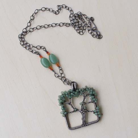 Oak Tree Necklace - Aventurine