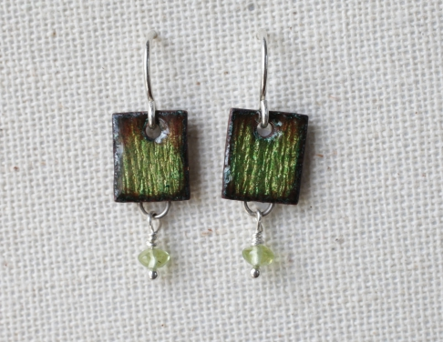 Tiny Rectangle Earrings
