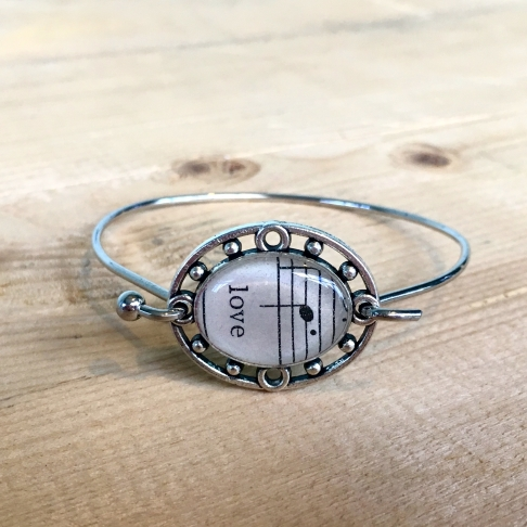 Sheet Music Love Bracelet