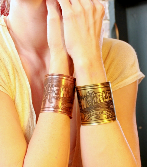 New Orleans Etched Cuff Bracelet - Copper or Brass