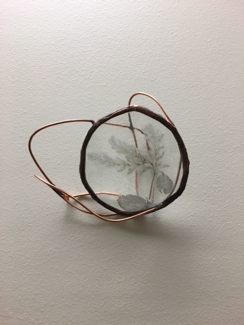 "Round Enverre Copper Wire Wall Sculptures (3"" x 3"")"