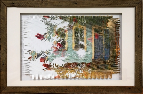 LaSalle - Photo Weave in Reclaimed Wood Frame