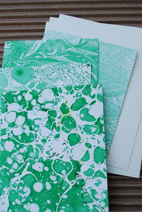 Marbled Note Cards / Peridot