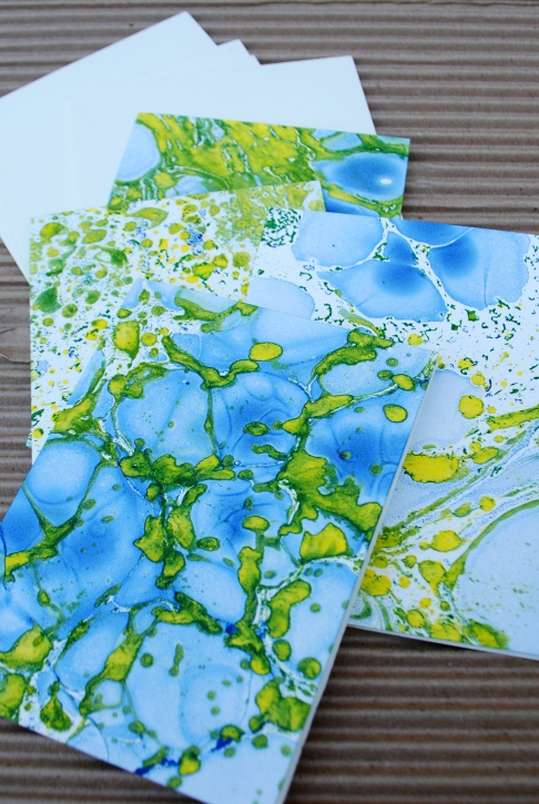Marbled Note Cards / Azurite