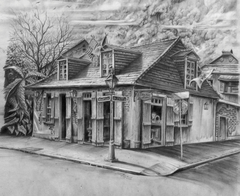 Jean Lafitte's - Black and White