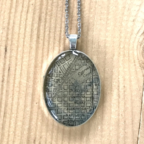 Midcity Map Necklace
