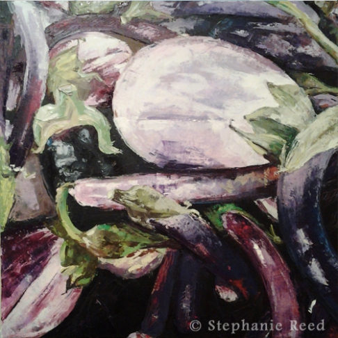 September (Assorted Eggplants)- Blank Note Card