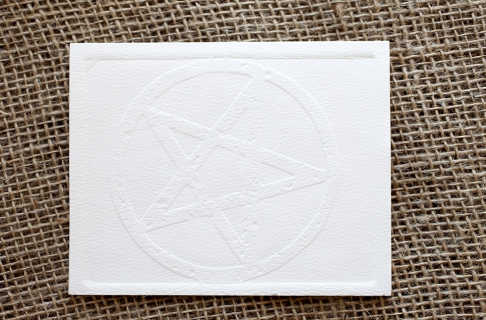 Embossed Notecards - Pentagram