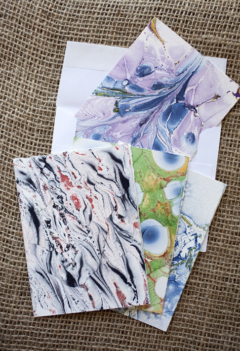 Marbled Note Cards / agate