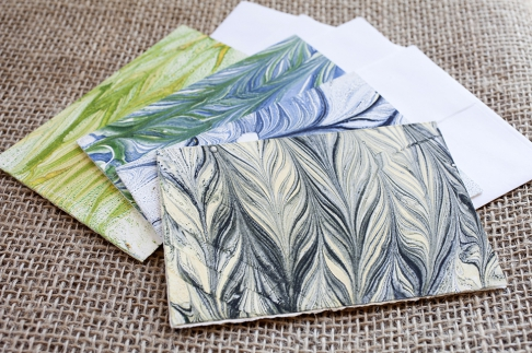 Marbled Note Cards / shale