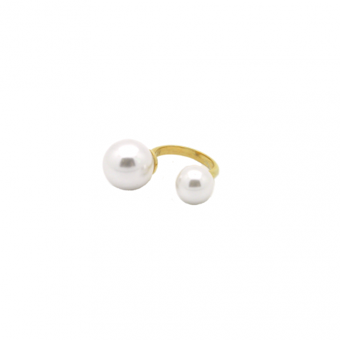 Double Deco Pearl Ring