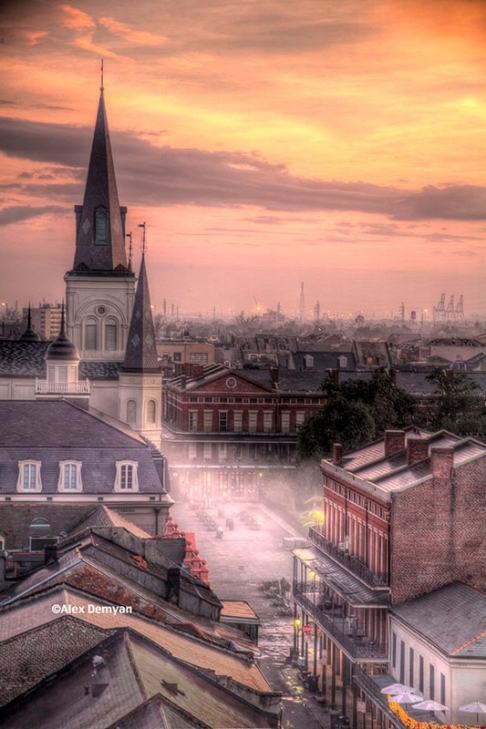 Sunrise Over the French Quarter
