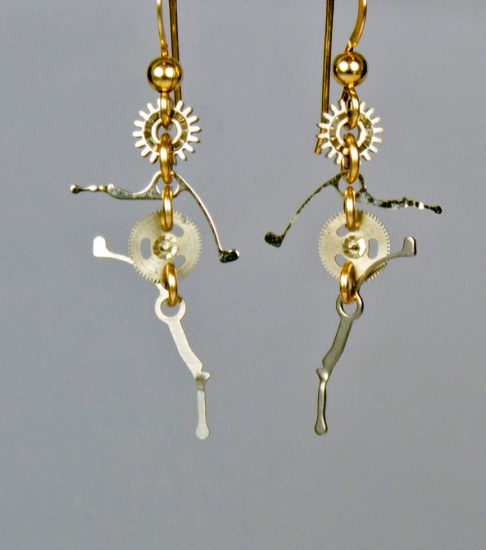 Clockwork Highstepper Earrings