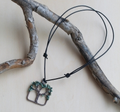 Oak Tree Necklace - Moss Agate