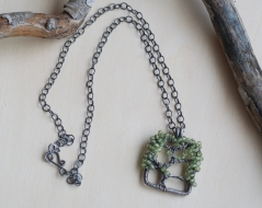 Oak Tree Necklace - Peridot