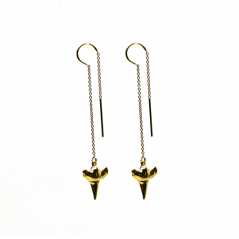 SHARK TOOTH DROP EARRING