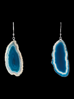 Agate Earrings / Silver