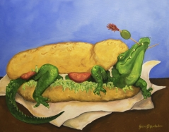 Alligator Po-Boy, and Make it Snappy!