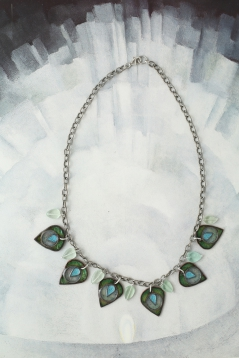 Peacock Leaf Necklace
