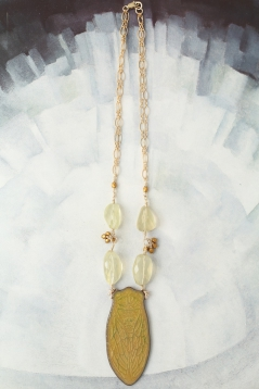 Gold Cicada Necklace