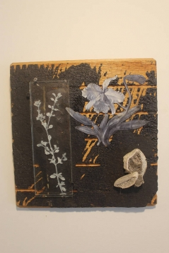Mixed Media Collage with Oregano + Orchid