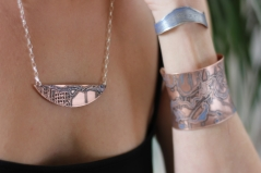 Bayou St. John Etched Map Necklace