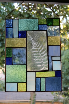 Large Enverre Fern Stained Glass