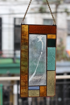 Daffodil Enverre Stained Glass Panel