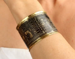 Jackson Avenue/Garden District Brass Etched Cuff