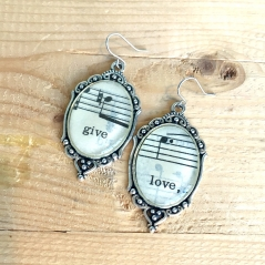 Give Love Music Earrings