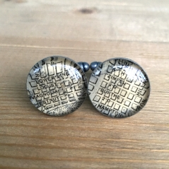 Carrollton Area Map Cufflinks