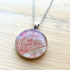 By The Tracks Map Necklace