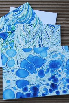Marbled Note Cards / Sapphire