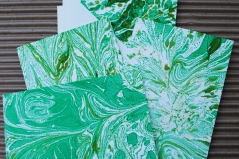 Marbled Note Cards / Emerald