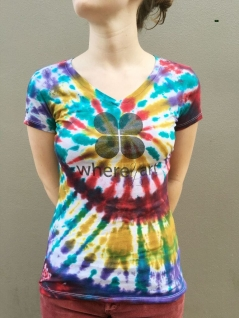 Limited Edition Where Y'Art Tie-Dye Women's V-Neck