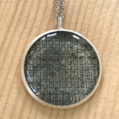 Carrollton Map Necklace