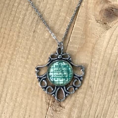 Petite St. Charles Map Necklace
