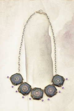 Purple Square Necklace