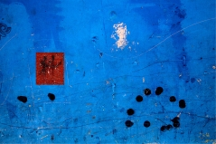 Red Square / Blue Field, Abstract