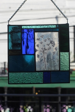 Stained Glass with Euphorbia