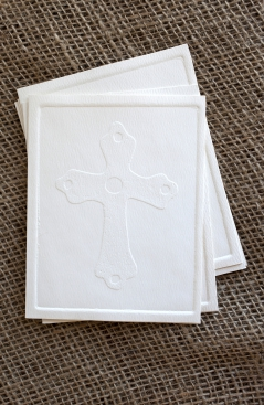 Embossed Notecards - Cross