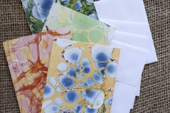 Marbled Note Cards / opal