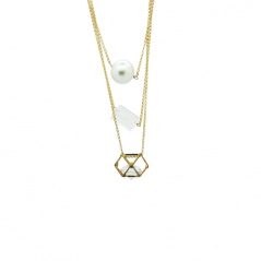 Tiered Cage Crystal Necklace