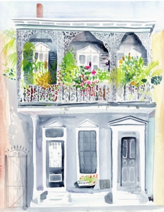 Blooming Balcony - original painting