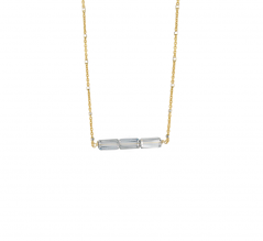 Mirrored Bar Necklace
