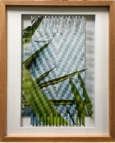 Blue Stucco Photo Weave Framed in Oak Frame / Main Image