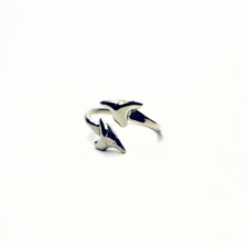 DOUBLE SHARK TOOTH RING / Main Image