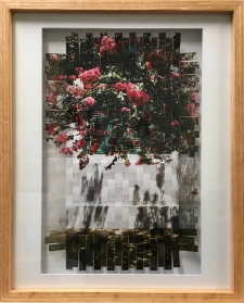 Crepe Myrtle Photo-weaving framed in Oak.  / Main Image