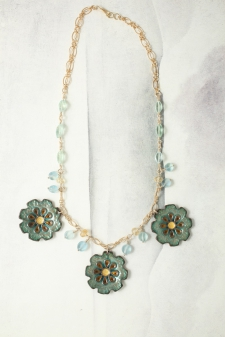 Daisy Cloisonné Necklace (Reversible) / Main Image