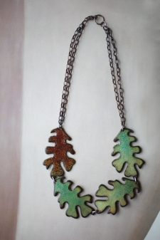 Oak Leaf Necklace (reversible)/ product back view